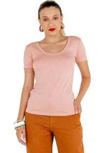 Camiseta Manga Curta Latifundio Feminina - Feminino-Rosa