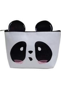 Necessaire Panda Grupo Avenida Feminina - Feminino-Branco