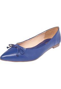 Sapatilha Dafiti Shoes Laço Fosco Azul