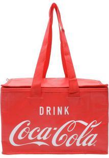Bolsa Térmica Poliéster Coca-Cola Logo Vermelho 13 Litros