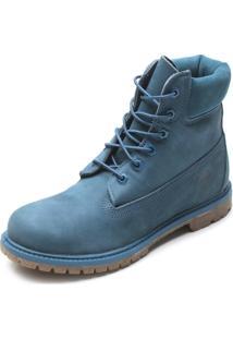 Bota Timberland Yellow Boot 6 Premium Wp W Azul