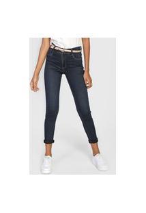 Calça Jeans Sawary Skinny Pespontos Azul
