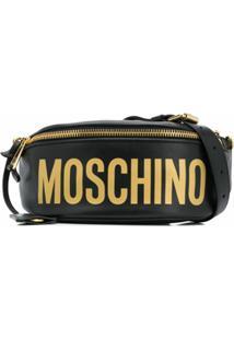 Moschino Pochete Com Placa De Logo - Preto