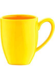 Caneca Em Cerâmica Flo 300Ml Amarelo