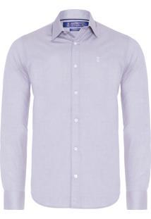Camisa Masculina Social Brilho - Cinza