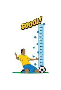 Adesivo De Parede Infantil Régua Futebol Gol