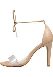 Sandália Minimalista Week Shoes Vinil 3 Tiras Nude