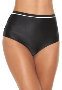 Calcinha Morena Rosa Hot Pant Lurex Preta