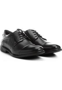 Sapato Social Couro Ferracini Bolonha - Masculino-Preto