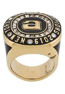 Alexander Wang Oversized Ring - Dourado