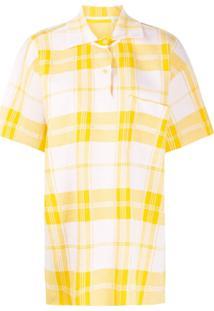 Jacquemus Camisa Polo Torchon Xadrez - Amarelo