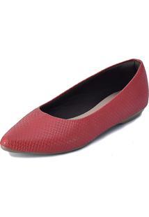 Sapatilha Promocional Scarpan Calçados Finos Cobra Vermelha - Kanui