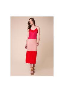 Vestido Tricolor Canelado