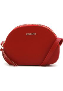 Bolsa Anacapri Texturizada Vermelha