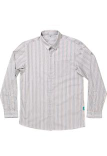 Camisa Jokenpô Adulto Em Tricoline Listrada Multicolorida