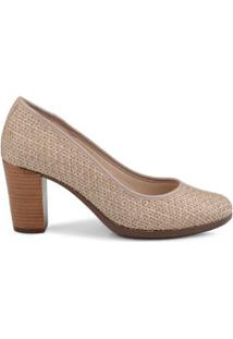 Scarpin Royal Comfort Ráfia Natural/39