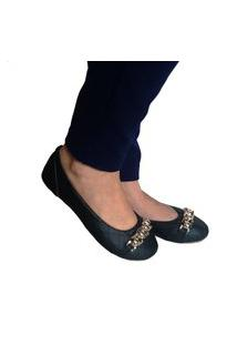 Sapatilha Feminina Estilo Shoes Ga730 Preto Xadrez