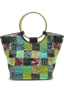 Bolsa Ivory Clover Em Patchwork Original - Multicolorido - Feminino - Dafiti