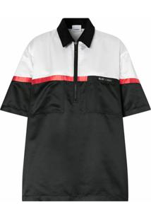 Burberry Camisa Oversized Color Block - Preto