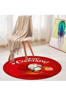 Tapete De Natal Redondo Merry Christmas 94Cm - Multicolorido - Dafiti