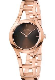 Relógio Calvin Klein Feminino Em Aço Rosé