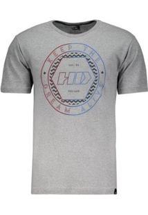 Camiseta Hd Black Lodge - Masculino-Cinza