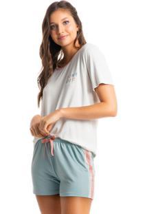 Pijama Fun Colors Curto - Azul Claro/M
