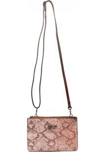 Bolsa Transversal Em Couro Recuo Fashion Bag Rosa