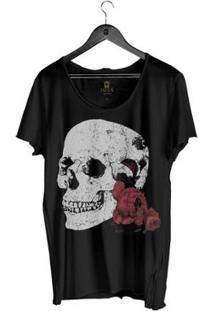 Camiseta Masculino Estonada Corte À Fio Joss Flores Da Lua Masculina - Masculino