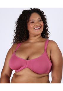 Sutiã Plus Size Love Secret Em Modal Com Aro Sem Bojo Rosa Escuro