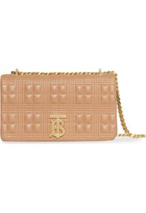 Burberry Small Quilted Check Lambskin Lola Bag - Neutro