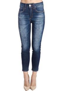 Occhi Azzurri. Calça Skinny Jeans Escuro E Destonado Bia Colcci 498d5aafee6