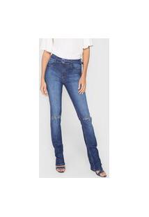 Calça Jeans Lança Perfume Reta Hera Azul