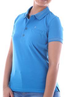 Camisa Polo Cp0719 Azul Traymon Modelagem Regular