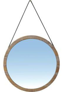 Espelho Berlim Com Moldura Cor Driftwood 65 Cm (Larg) - 51126 - Sun House