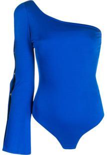 Elisabetta Franchi Body Ombro Único - Azul