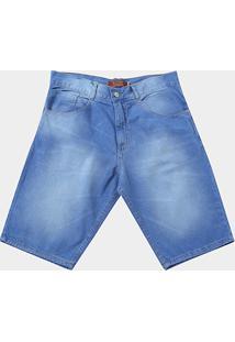 Bermuda Jeans Biotipo Estonada Cintura Alta Masculina - Masculino