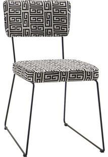 Cadeira Roma Preto E Branco