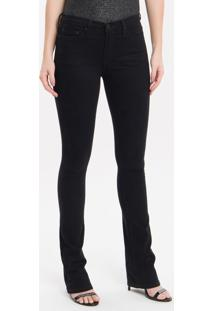 Calça Color Five Pockets Kick Flare - Preto - 36