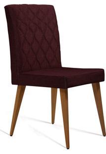 Cadeira Julia T1076 Linho Marsala Daf Marsala Vinho