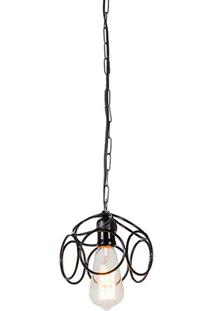 Luminaria Pendente Lump Estrutura Em Ferro Redondo Cor Preto 16Cm (Larg) - 54093 - Sun House