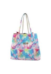 Bolsa Handbag Feminina Tie Dye Espaçosa Moderna Casual