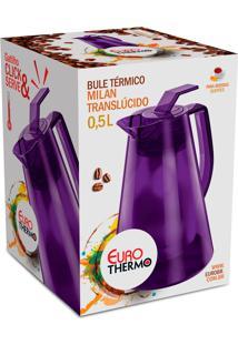 Bule Termico Milan Translucido 0,5L Roxo Euro Home