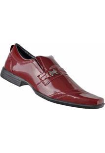 Sapato Social D&R Shoes Masculino - Masculino-Bordô
