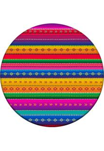 Tapete Love Decor Redondo Wevans Mexican Color Multicolorido 94Cm