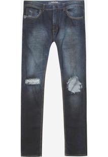 Calça John John Super Skinny Kendal Jeans Azul Masculina (Jeans Escuro, 42)