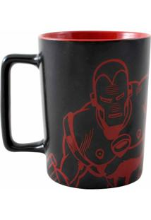 Caneca Com Alça Quadrada Iron Man 500 Ml - Caneca Com Alça Quadrada 500Ml Iron Man