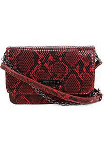 Bolsa Santa Lolla Cobra Pequena Feminina - Feminino-Vermelho