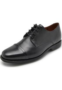 Sapato Couro Richards Cadarço Preto