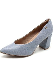 Scarpin Piccadilly Liso Azul